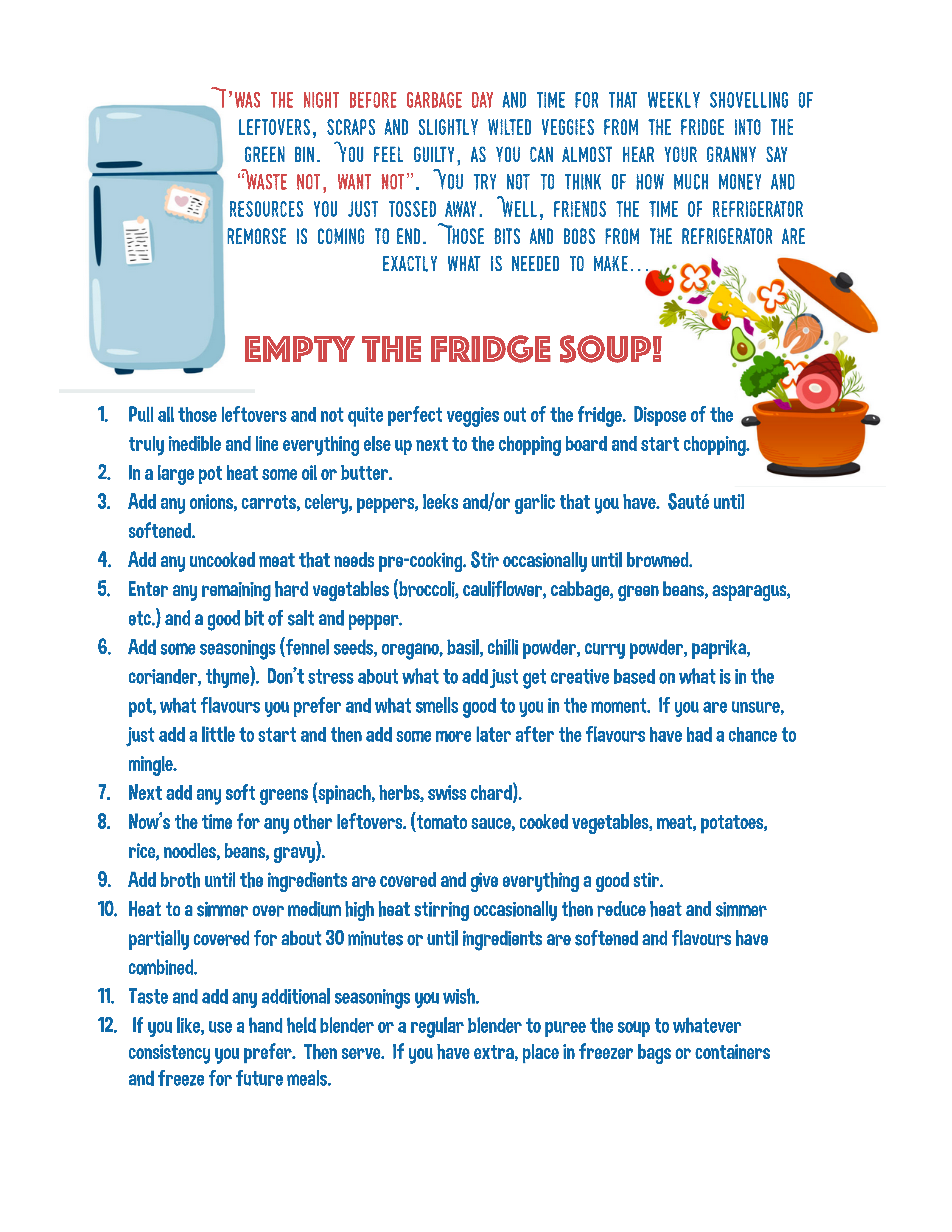 Take Five for the Earth - Empty the Fridge Soup